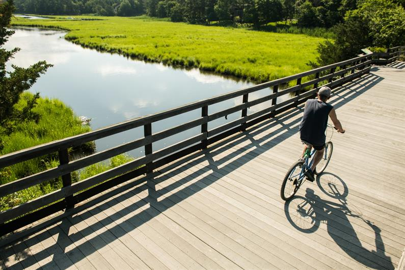 Miles of walking and biking trails