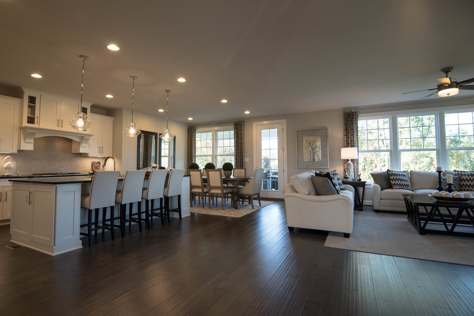 All homes at Chalfont View offer a gourmet kitchen with oversized granite island, 5'' hardwood flooring, plus convenient second-floor laundry. A main-level bedroom with full bath is also available.