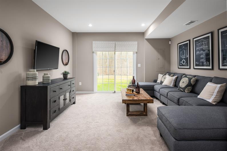 included full basement offers storage and future living space