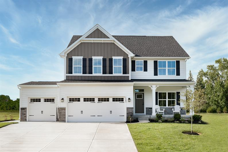 HARDIEPLANK HOMES WITH UPGRADED EXTERIORS & 3-car garages