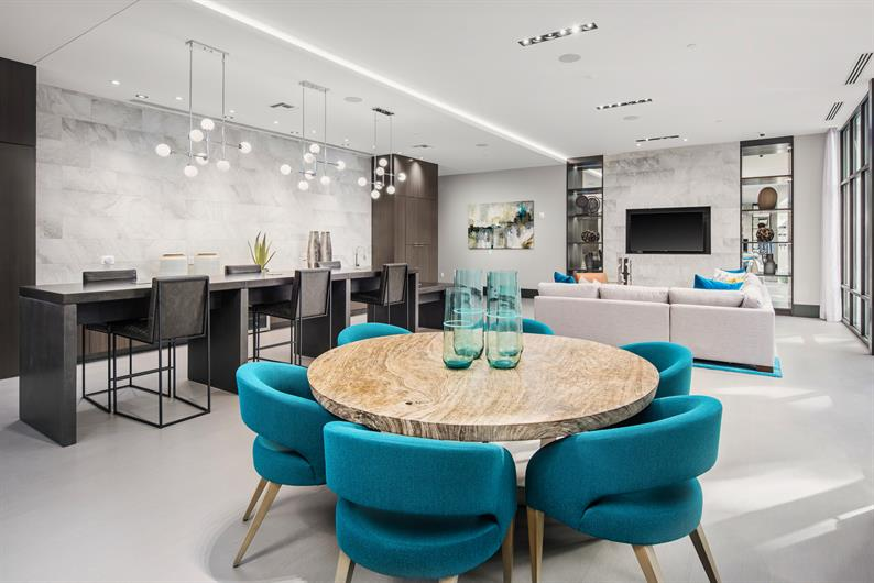 Elegant Clubroom for Residents and their Guests