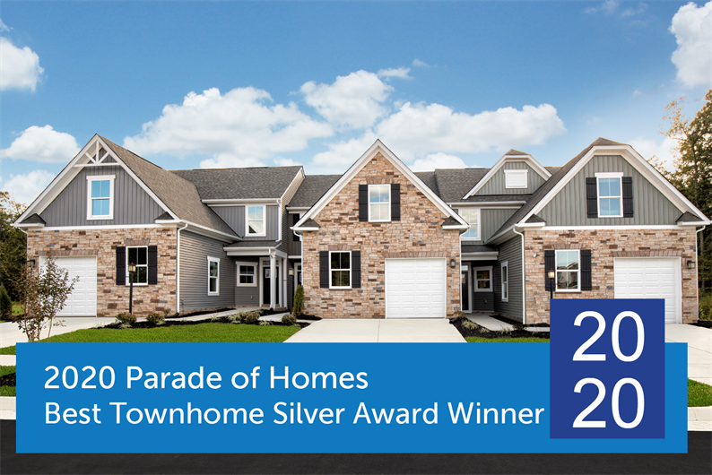 2020 Parade of Homes Best Townhome Silver Award Winner