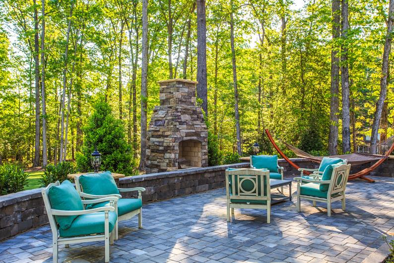 Outdoor Living Space with Wooded Yards