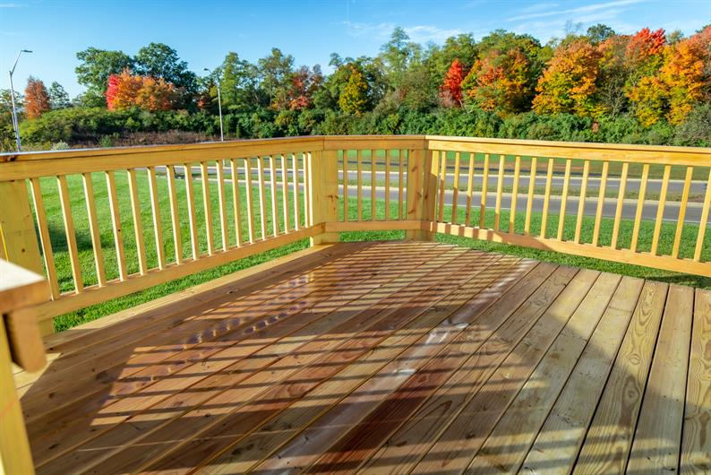 ENJOY YOUR NEW HOME INSIDE AND OUT WITH INCLUDED DECK