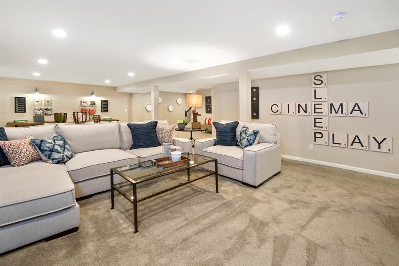 FIND EXTRA SPACE IN A FANTASTIC FINISHED BASEMENT