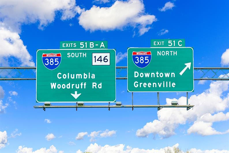 Getting around the the Upstate is easy when you live less than 3 minutes to interstate