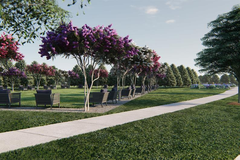 COMMUNITY GREEN SPACE AND WALKING TRAILS