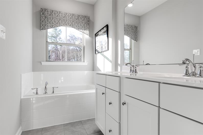 LUXURY OWNER'S BATH WITH DUAL VANITIES