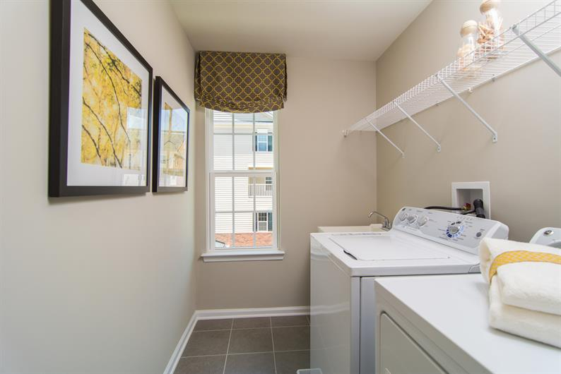 Space for Washer and Dryer