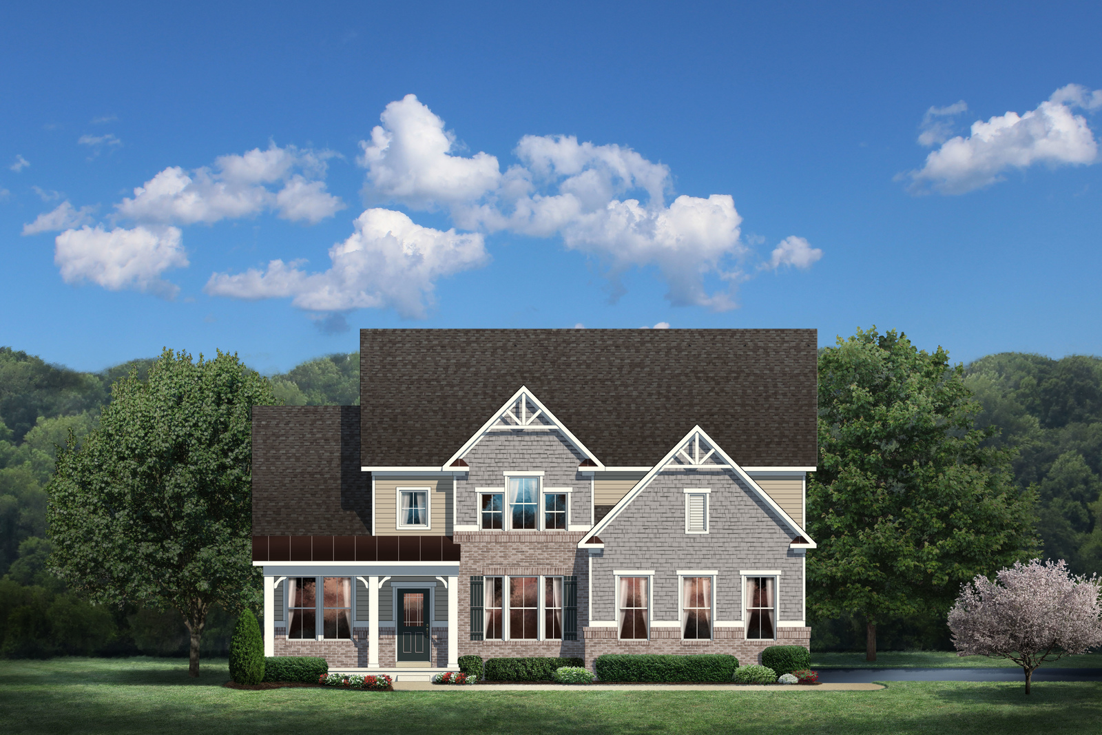 New bateman home model at the overlook at southpointe for Heartland house