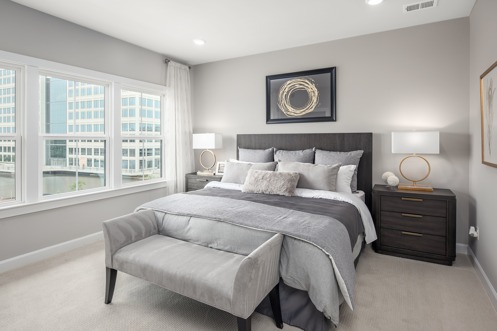 The spacious Hancock floorplan easily accommodates a king-size bed and your favorite furniture pieces.