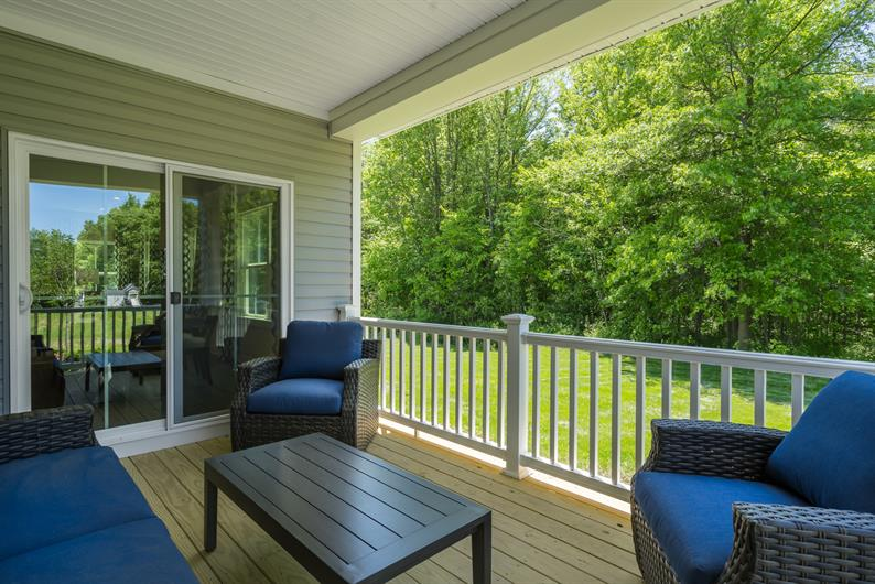 Take in the views on your back porch