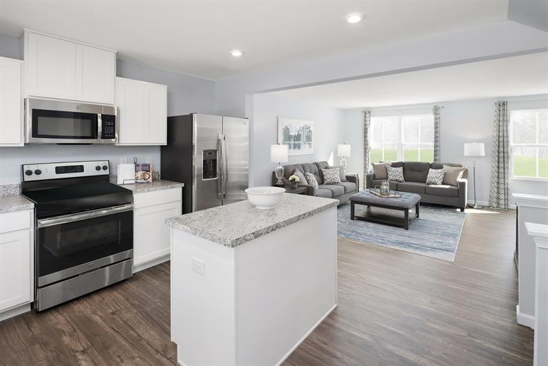 Entertaining is ideal in an open floorplan home where everyone can be part of the gathering!