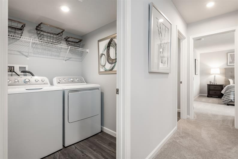 STEP SAVING BEDROOM LEVEL LAUNDRY ROOM