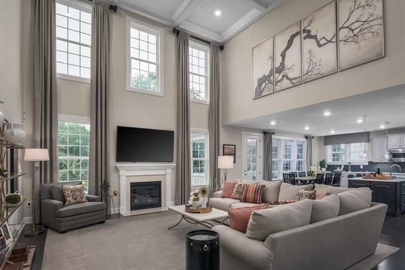 Airy Two-Story Family Rooms