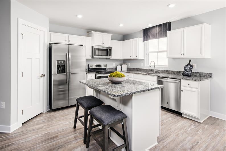 Open kitchen with energy-efficient appliances