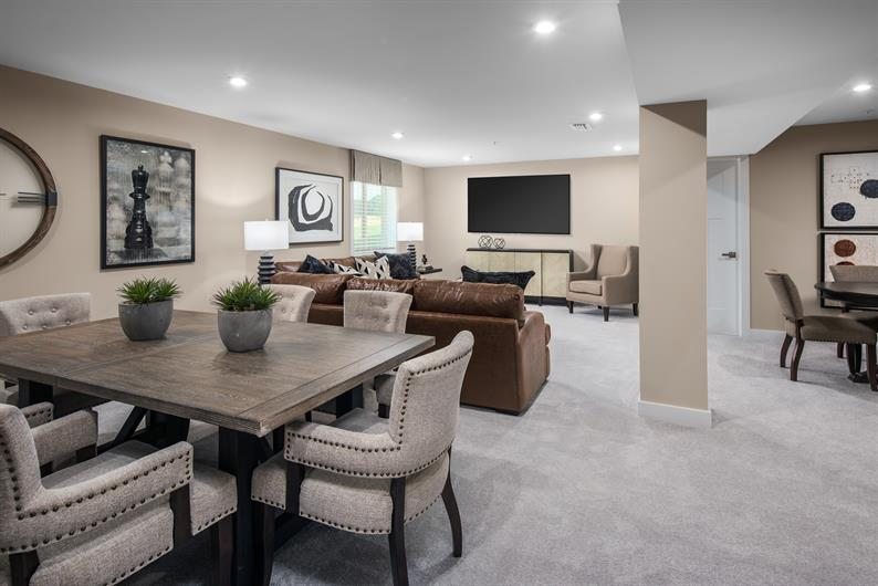 Our floorplans offer spacious optional finished basements