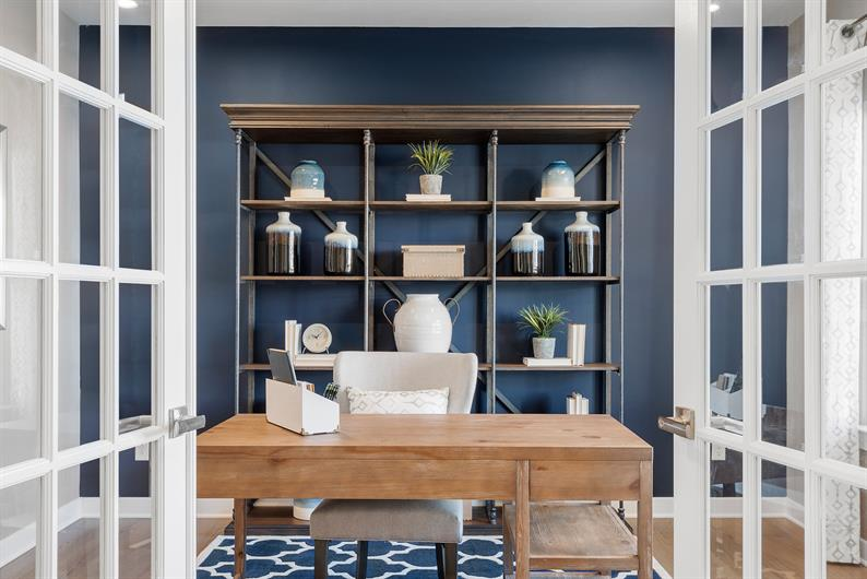 FLEXIBLE FLOORPLANS WITH ROOM FOR A HOME OFFICE