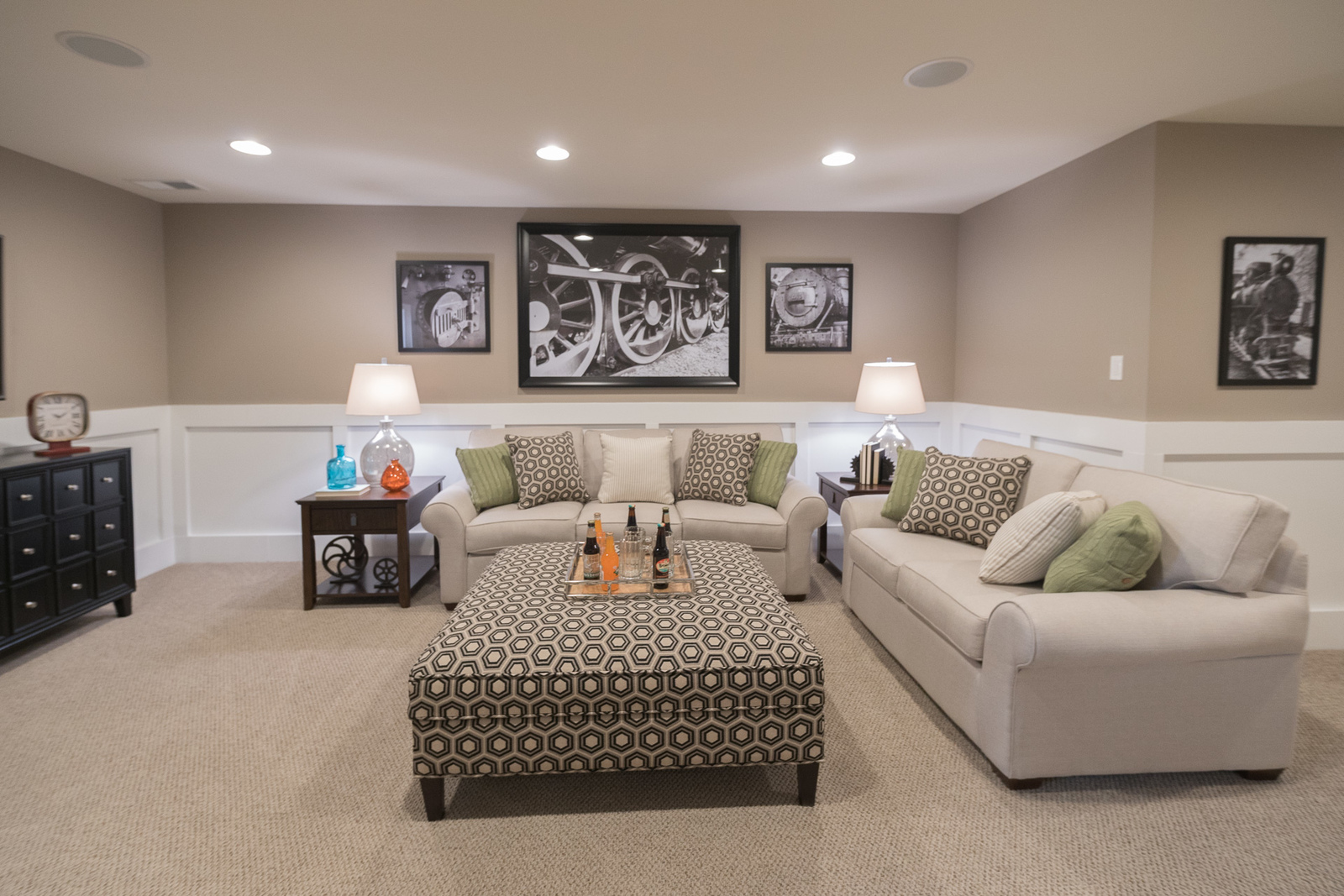 A finished basement provides the additional space you're looking for to create the ultimate entertainment spot