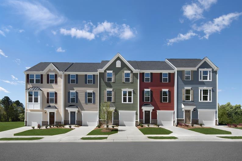 Lowest priced new 3-story townhomes in Southwest Wake County