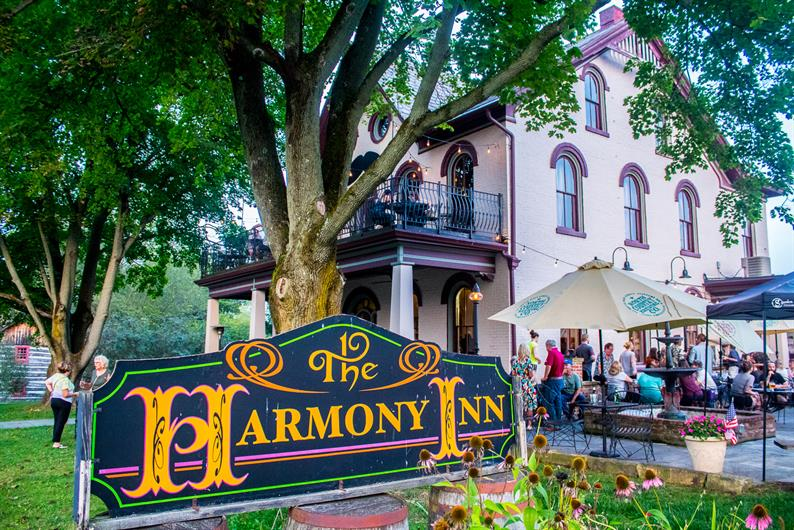Enjoy the charm of historic Harmony at The Harmony Inn, only 3 miles away