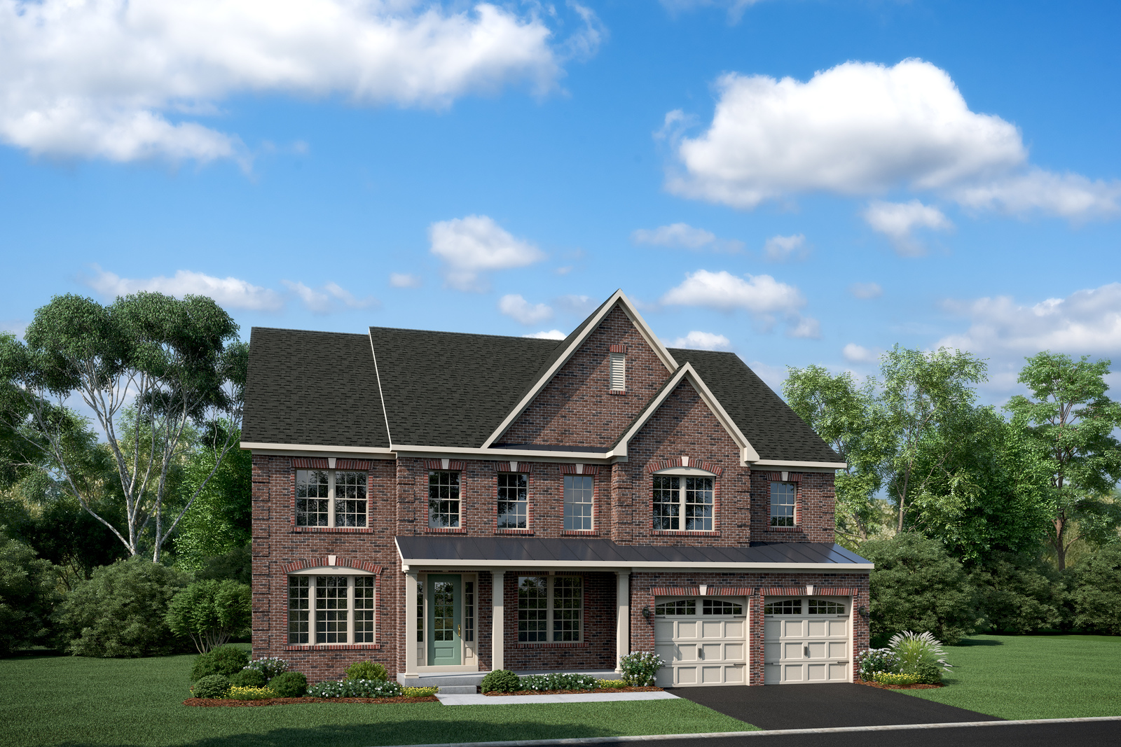 With handsome curb appeal and stately details, the Stratford Hall is one of our most popular plans.