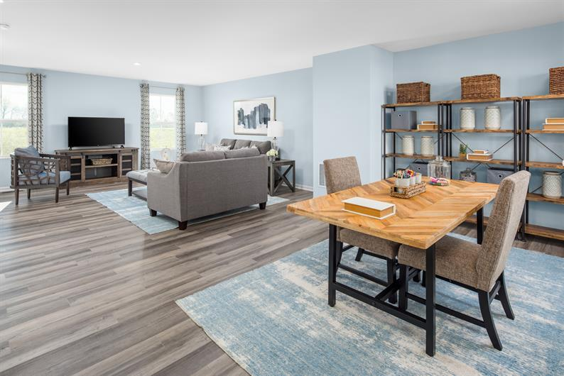 OPEN CONCEPT FLOORPLANS ALLOW FAMILY AND FRIENDS TO GATHER AND NEVER MISS THE CONVERSATION