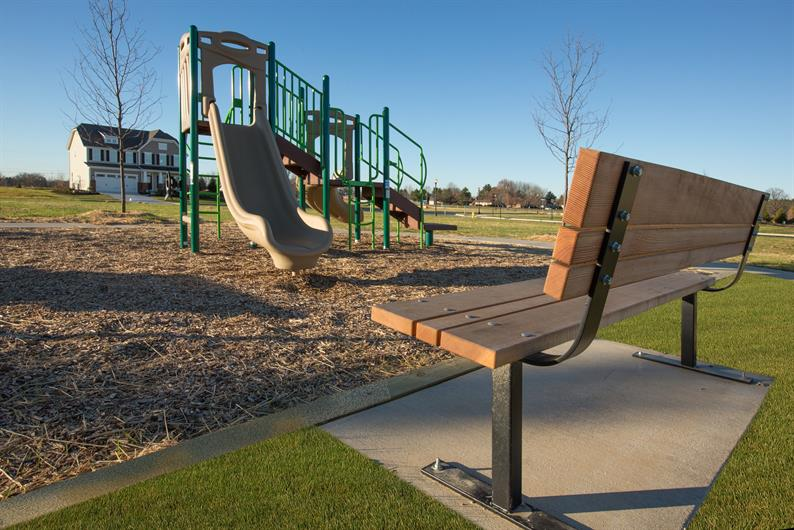 Community Park with Playground and Sports Court means fun for the family