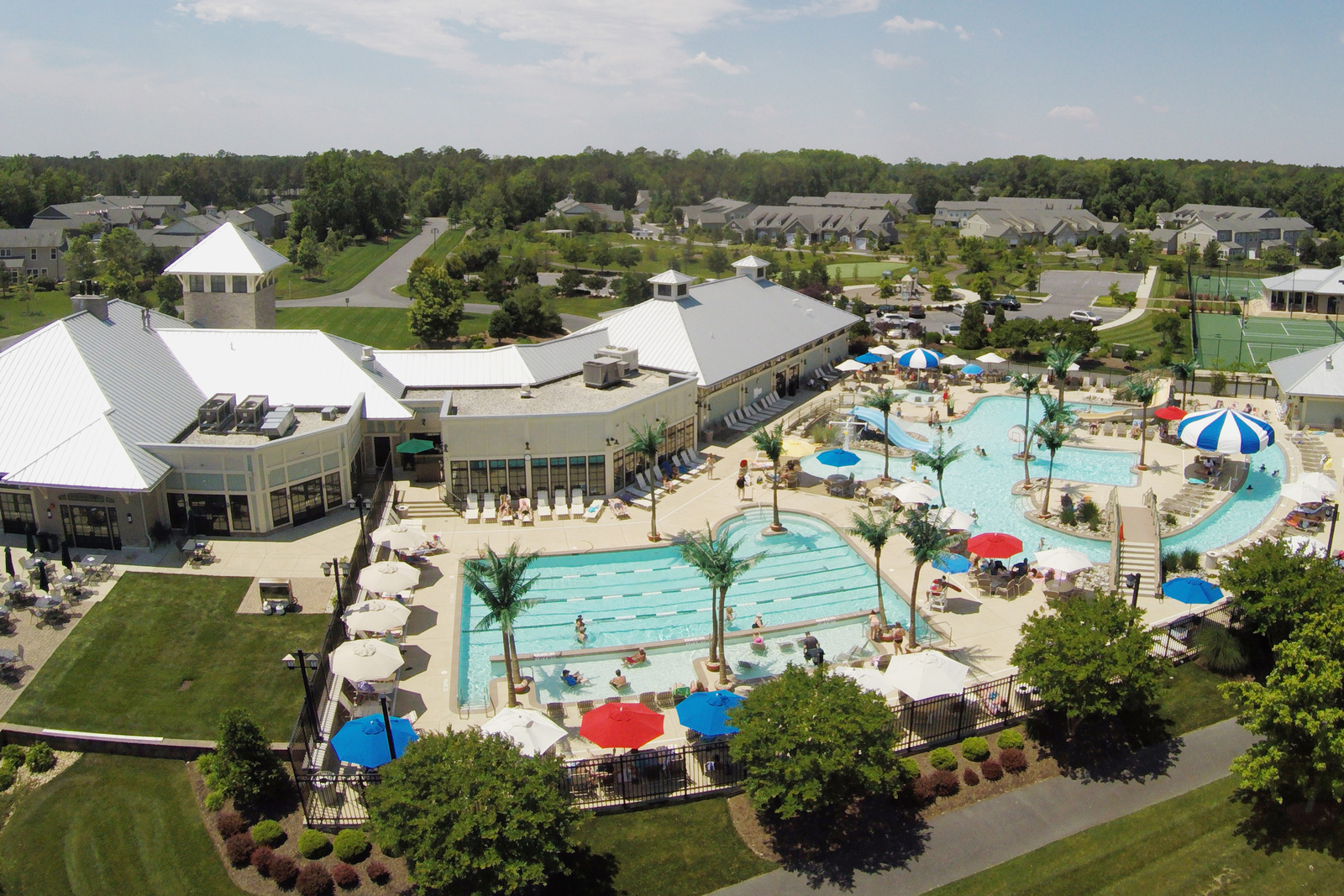 You'll always have something to do when you're living at Bay Forest! A huge clubhouse, two pools and lazy river, plus tennis courts, playground and much, much more!