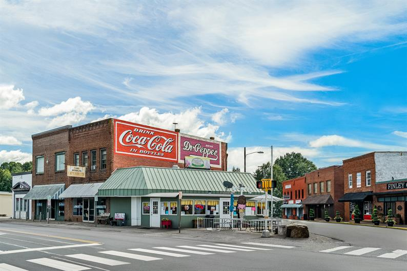 HEAD OVER TO DOWNTOWN TROUTMAN FOR LOCAL SHOPPING AND DINING