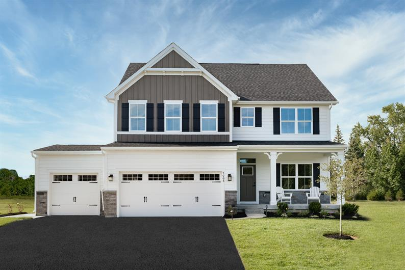 Our last home is ready for move-in and has a 3-car garage!