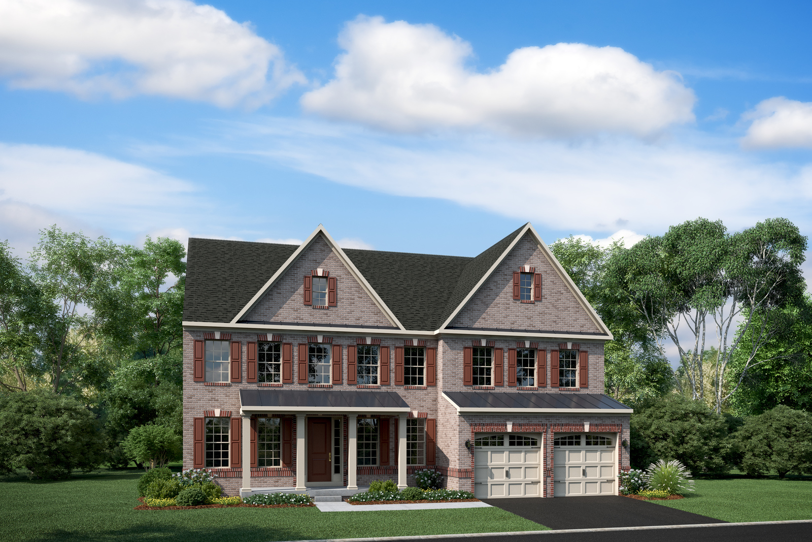 Choose either Craftsman-style or brick-front elevations at Maple Lawn South.