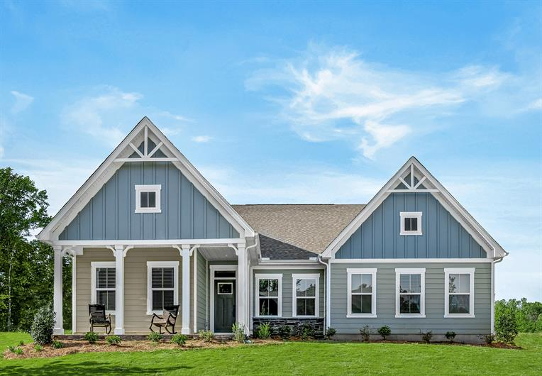 Large ranch homes with front porches - AVAILABLE TO TOUR