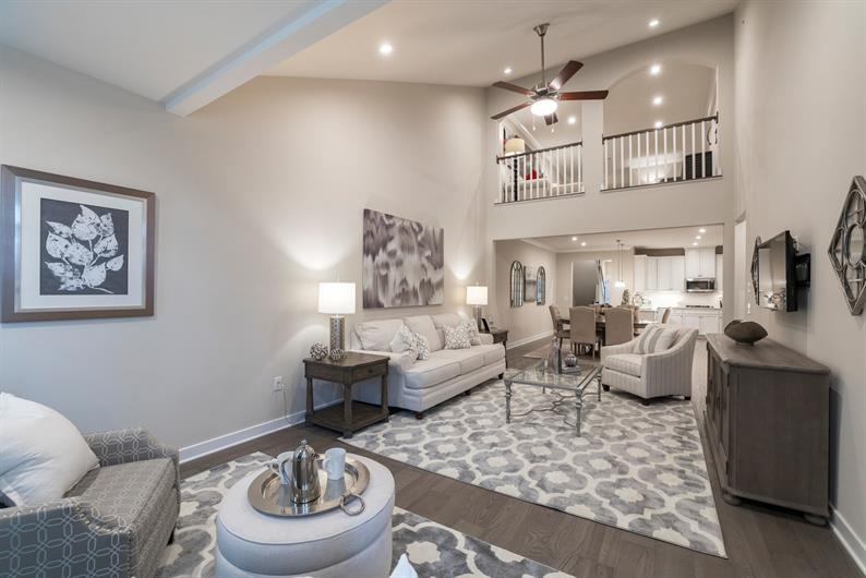 Don't miss a minute of fun with your open floorplan!