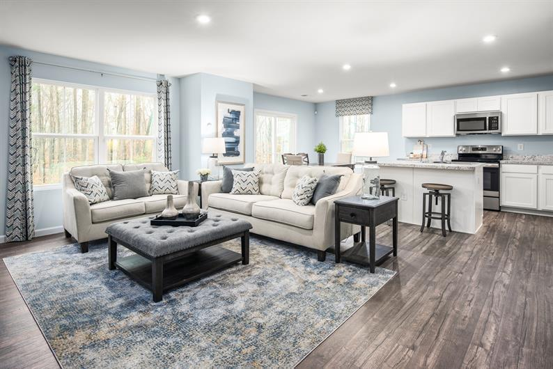 Open concept floorplans are perfect for entertaining