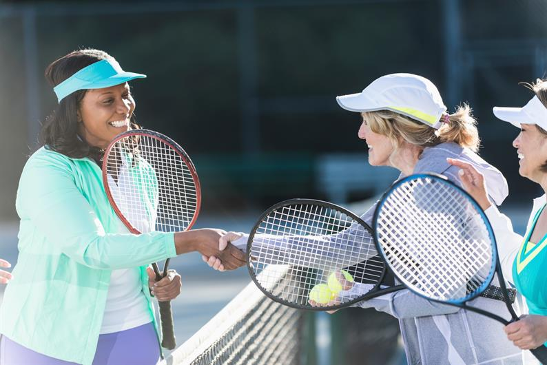 enjoy one of the many outdoor activities including tennis and pickleball at Lefferson Park