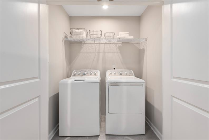 BEDROOM-LEVEL LAUNDRY MAKES LIFE EASIER