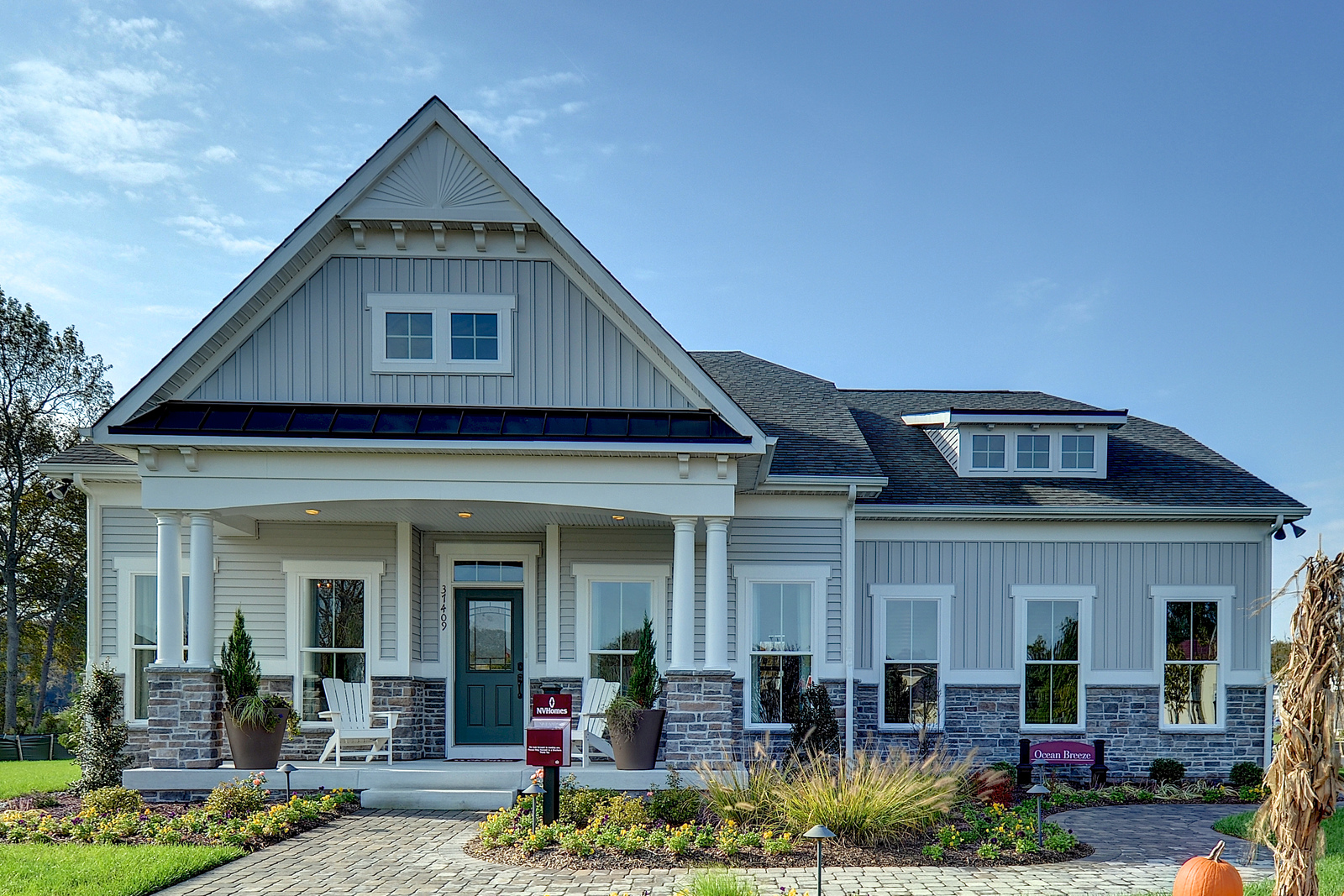 New ocean breeze home model at the woods at arnell creek for Rehoboth house