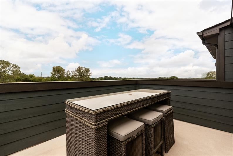 Enjoy the View from Your 4th Floor Private Rooftop Terrace