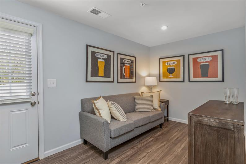 The finished recreation room makes this floorplan unique!