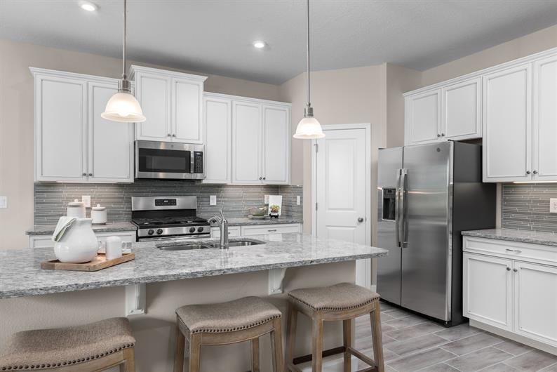 Stainless steel appliances at Lost Tree set the stage