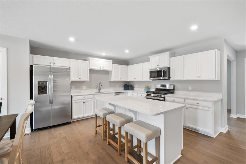 A beautiful open kitchen included