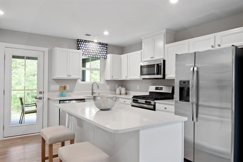 Open kitchen with energy efficient appliances