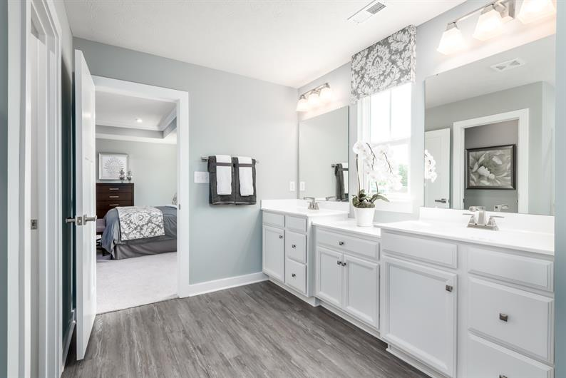 Great way to start your day with a spacious owner's bathroom