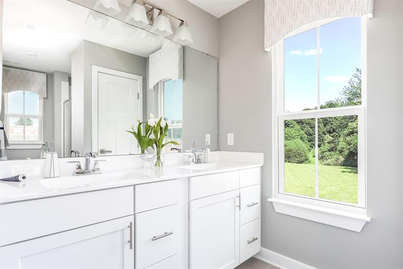 Bathrooms designed for busy mornings!