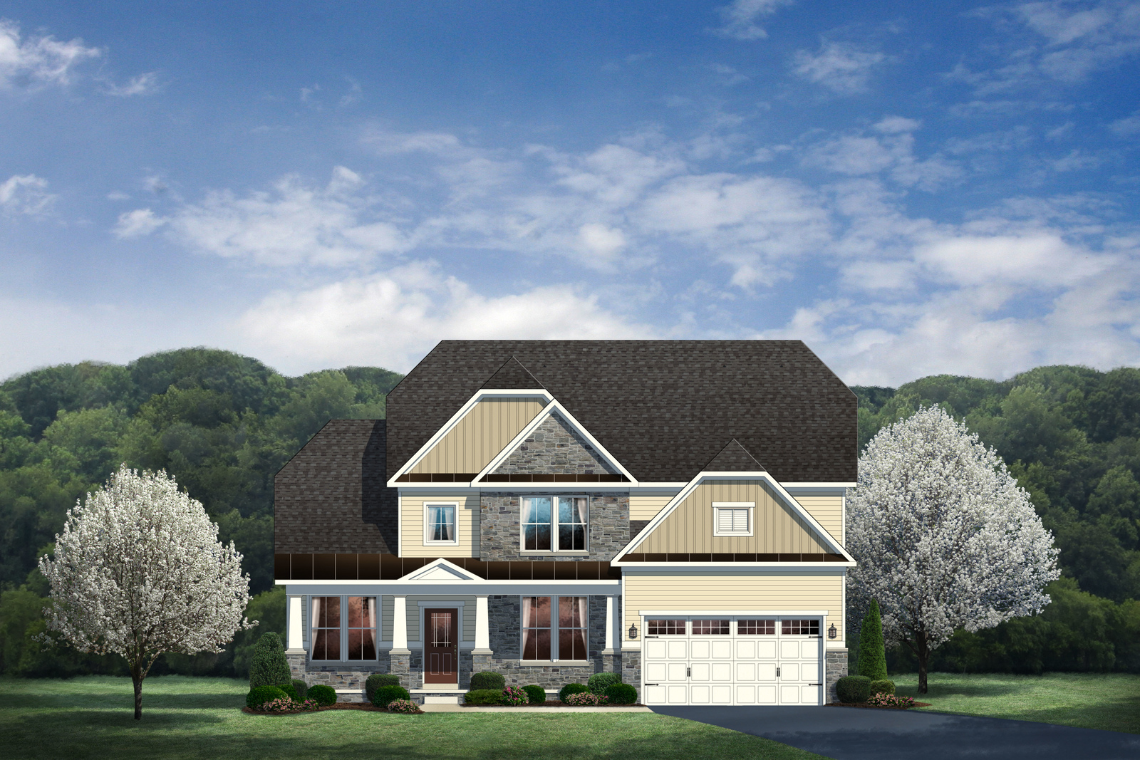 New bateman home model at the overlook at southpointe for Heartland homes pittsburgh floor plans
