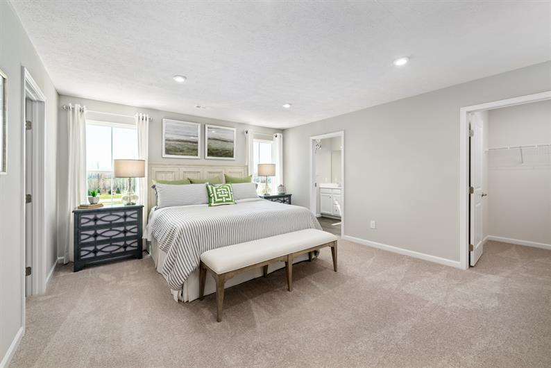 Unwind in your Upstairs Owner's Suite Fit for a King (Mattress)