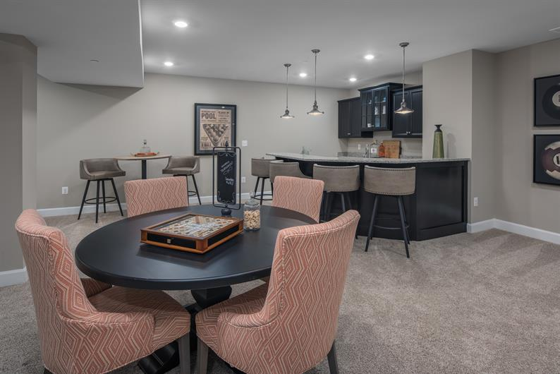 Wet Bar Options Available