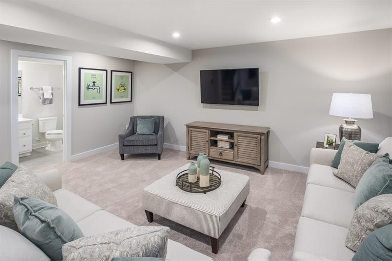THE SPACE YOU NEED IN THE INCLUDED FINISHED BASEMENT