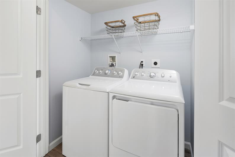 all appliances included & no more hauling laundry up & down stairs